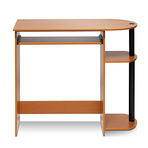 Furinno 14098R1LC/BK Easy Assembly Computer Desk, Light Cherry