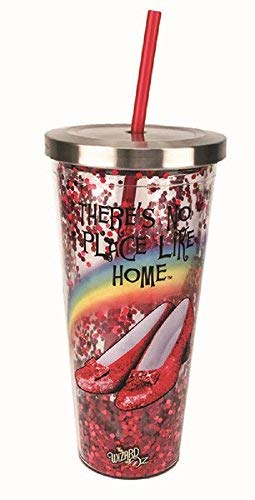 Spoontiques 21300 Wizard Of Oz Glitter Cup With Straw, 20 ounces, Red FBAB07BFRL1B7