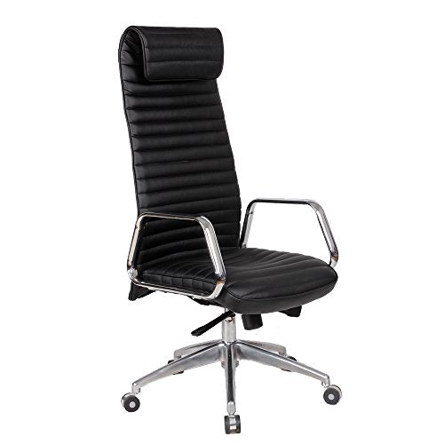 Fine Mod Imports Ox Office Chair High Back, Black