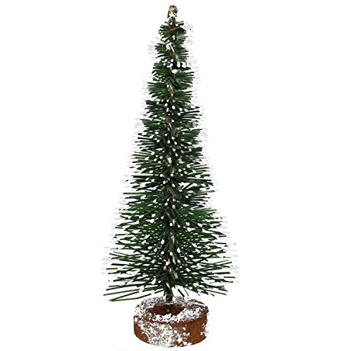Vickerman Unlit Green Frosted Artificial Village Christmas Tree, 5""