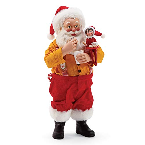 Department 56 Possible Dreams Santa Elf on The Shelf Sharing Cookies Figurine, 10 Inch, Multicolor