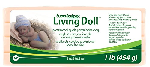 Polyform 1-Pound Super Sculpey Living Doll Clay, Baby