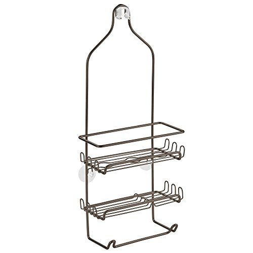 InterDesign Milo Shower Caddy - Bathroom Shelves for Shampoo, Conditioner and Soap, Bronze
