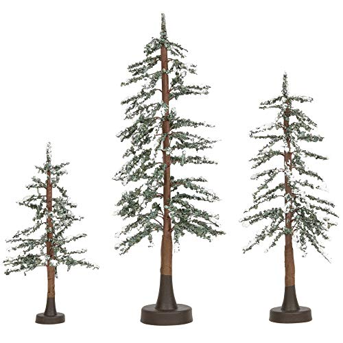 Department 56 Village Collections Accessories Snowy Lodge Pine Tree Figurines, Various Heights, Multicolor