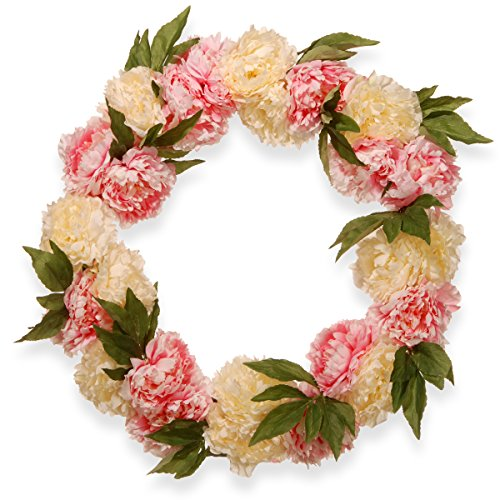"24"" Pink and White Peony Wreath"