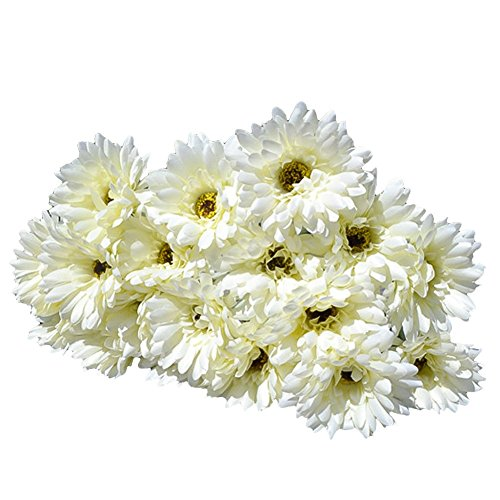 10x Silk Gerbera Daisy Artificial Flowers Bouquet Home Wedding Decoration