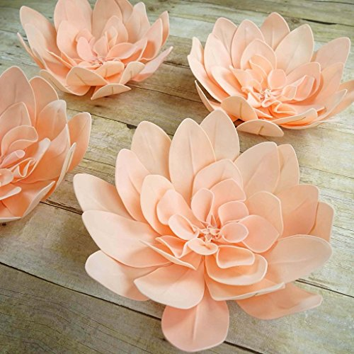"Efavormart 4 Pack 16"" Blush Real Feel Foam Daisy Flowers for Walls Backdrops Centerpieces Arrangements Party Home Decoration"