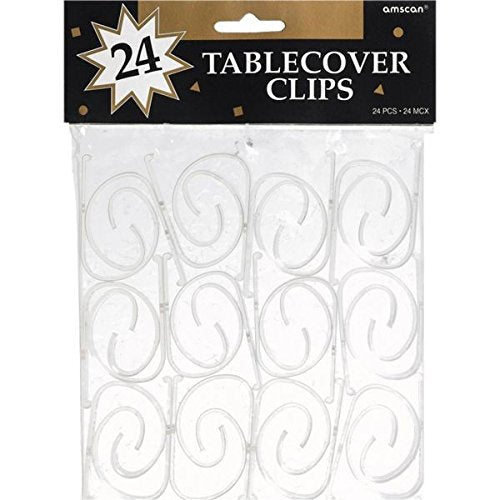 Amscan Highly Durable Tablecover Clips, One Size, Clear FBAB002PICFOE