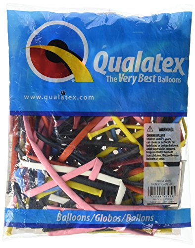 "Qualatex 43956.0 260Q Traditional Entertainer Latex Balloon, 2"" X 60"", Assortment FBAB004R4IZXO"