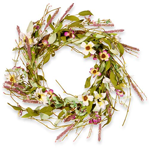 "22"" Assorted Spring Flowers Wreath"