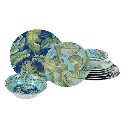 Certified International Tropicana Melamine 12 pc Dinnerware Set