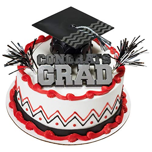 DecoPac Congrats Grad with Black Cap Graduation Cake Kit