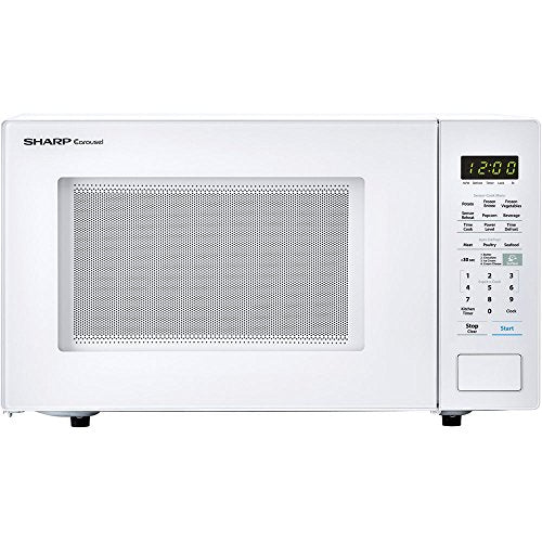 ALMO DISTRIBUTING WISCONSIN SMC1441CW 1.8 cu.ft. White 1000W Carousel with 3 Sensor Cook Microwave