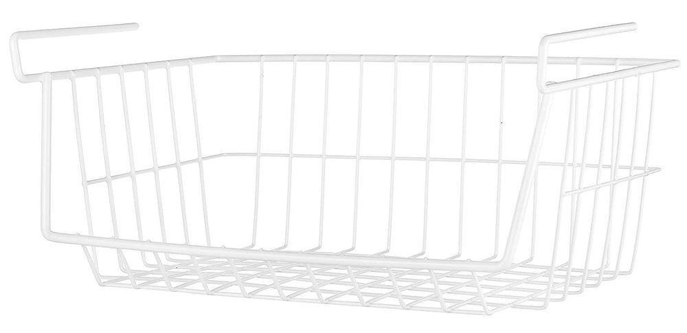 Whitmor White Wire Under Shelf Basket