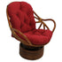 48-inch by 24-inch Solid Twill Swivel Rocker Cushion - Ruby Red