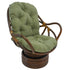 48-inch by 24-inch Solid Twill Swivel Rocker Cushion - Sage