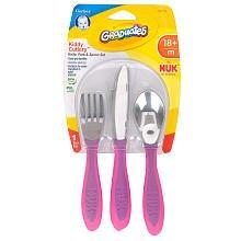 Nuk Kiddy Cutlery - Girl - 3 Ct