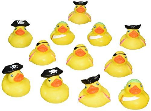 Rhode Island Novelty 2 Pirate Rubber Ducks 12 Pcs Per Order Novelty