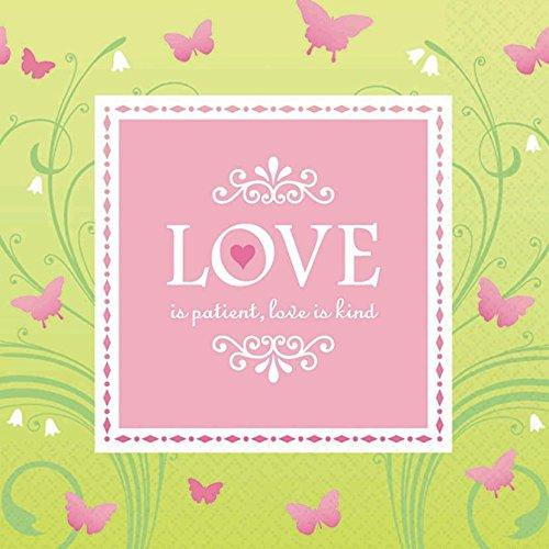Wedding And Bridal Shower \'Love Is Patient\' Large Napkins (16Ct)
