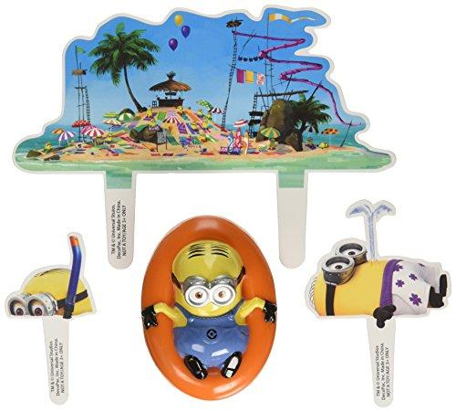 Despicable Me Beach Party Decoset Cake Decoration.