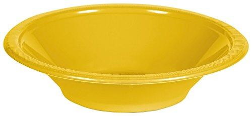 Creative Converting Touch Of Color 20 Count Plastic Bowl, 12 Oz, School Bus Yellow