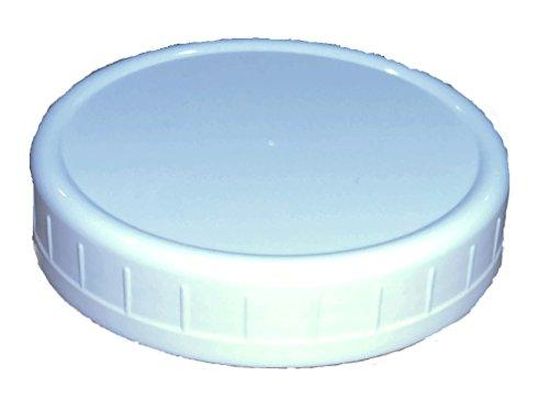 Wide-Mouth Reusable Plastic Lids For Canning Jars, 8 Count, Mainstays (3.62 Dia X .75 H)