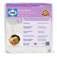 Sealy Securestay Waterproof Crib Mattress Pad