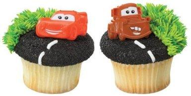 Oasis Supply Disney Cars Mater and McQueen 12 Count Cupcake Rings