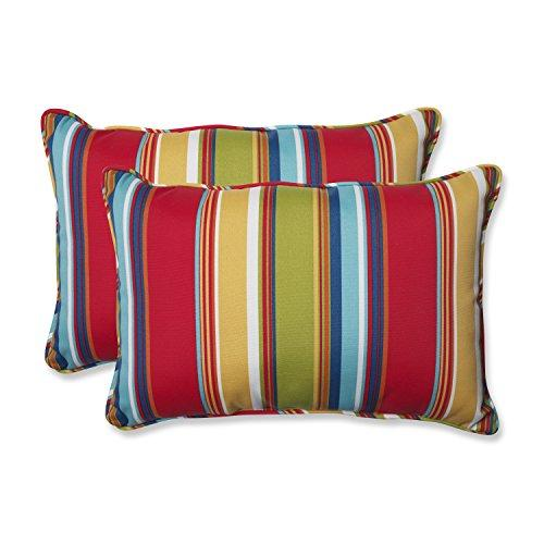 Pillow Perfect Outdoor Westport Garden Over-Sized Rectangular Throw Pillow, Multicolored, Set Of 2
