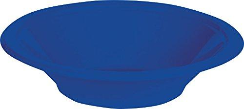 Creative Converting Touch Of Color 20 Count Plastic Bowl, 12 Oz, Cobalt