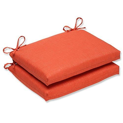 Pillow Perfect Outdoor/Indoor Rave Coral Squared Corners Seat Cushion (Set Of 2)
