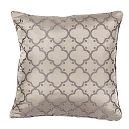 Kas L250 Taupe Filigree 100% Poly. 18 X 18 Pillow