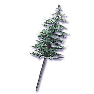 Evergreen Trees For Cake And Cupcake Decorating (24-Pack)