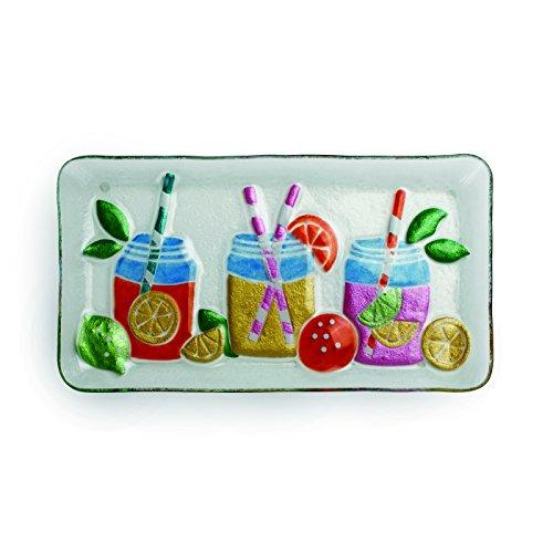 Demdaco Mason Jar Beverages Rectangle Platter, Multicolor