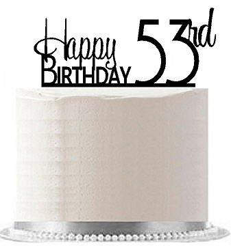 Cakesupplyshop Item#Ae-157 Happy 53Rd Birthday Agemilestone Elegant Cake Topper
