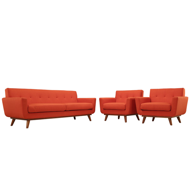 Engage Armchairs and Sofa Set of 3 - Atomic Red