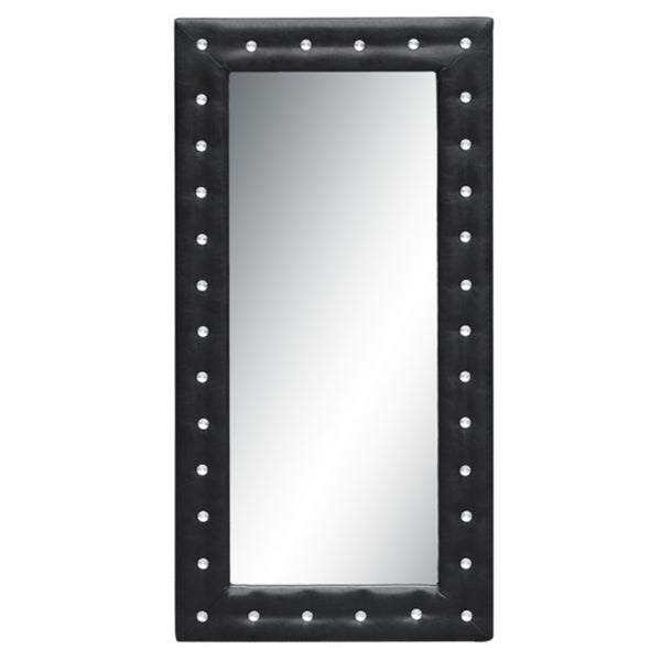 Fine Mod Imports  Tufted Mirror, Black