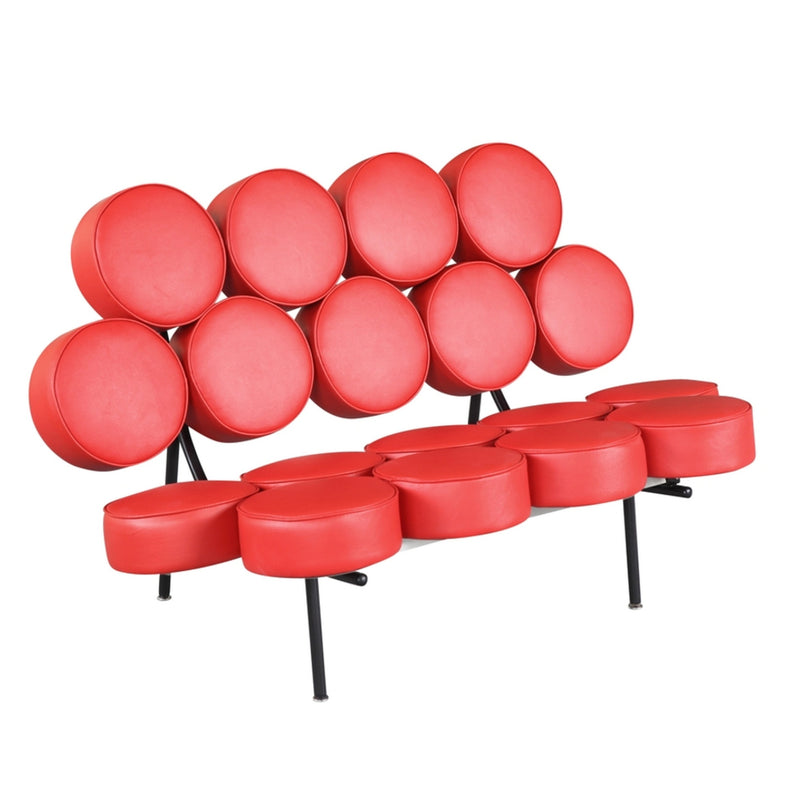 Fine Mod Imports  Circle Sofa, Red