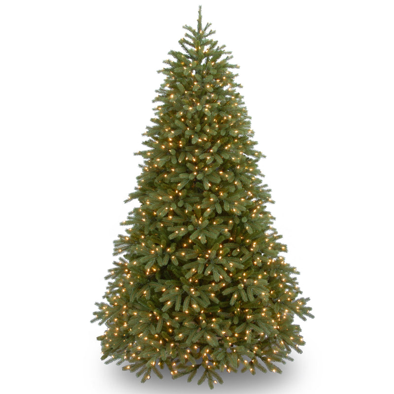 "7 1/2' ""Feel-Real"" Jersey Fraser Medium Fir Hinged Tree with 1000 Clear Lights"