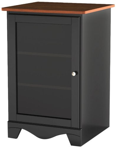 Pinnacle 1-Door Audio Tower From Nexera - Cherry And Black