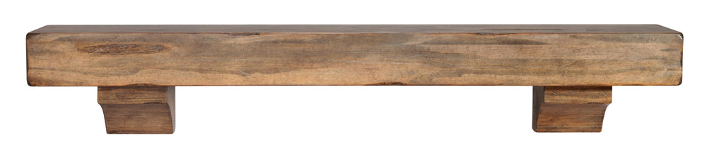 "The Shenandoah 48"" Shelf or Mantel Shelf Dune Rustic Distressed Finish"