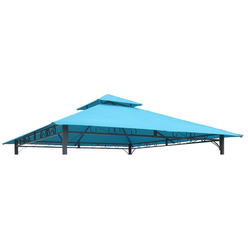 St. Kitts Replacement Canopy for 10 ft. Canopy Gazebo -Aqua Blue