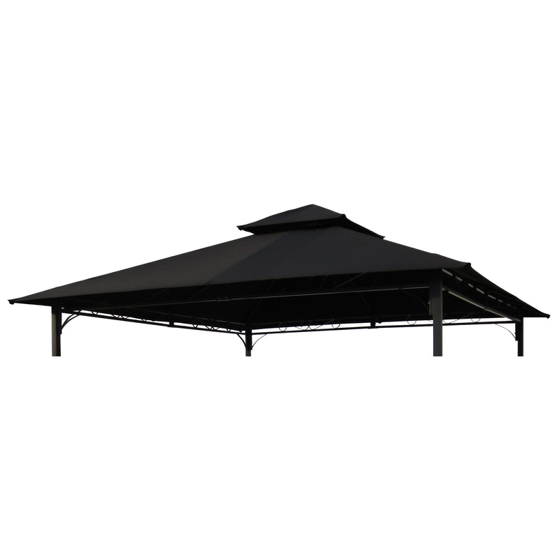 St. Kitts Replacement Canopy for 10 ft. Canopy Gazebo -Black