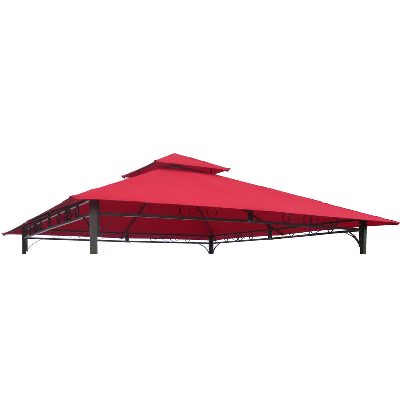 St. Kitts Replacement Canopy for 10 ft. Canopy Gazebo -Ruby Red