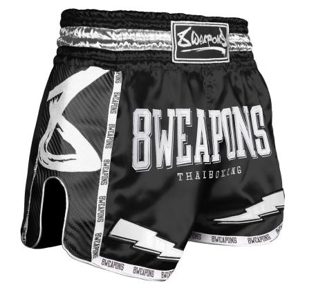 8 Weapon - Muay Thai Short CARBON - BLACK NIGHT 2.0
