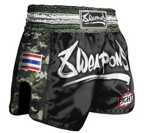 8 Weapon - Muay Thai Short ULTRA CAMO - DARK GREEN XL
