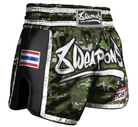 8 Weapon - Muay Thai Short SUPER MESH - CAMO