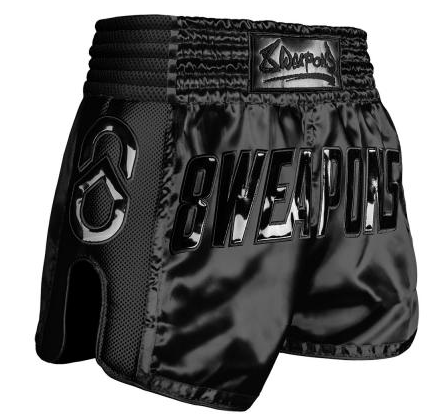 8 Weapon - Muay Thai Short SUPER MESH - NOIR SCHWARZ
