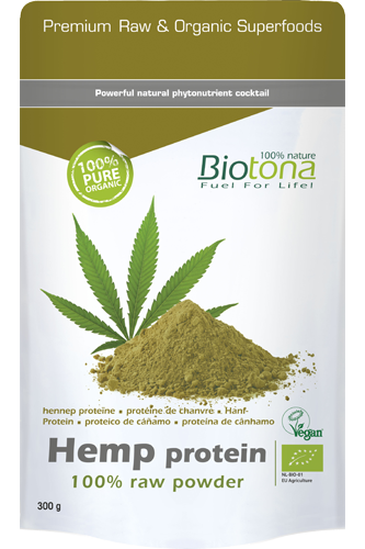 Biotona - HANFPROTEIN 100% RAW POWDER 300G