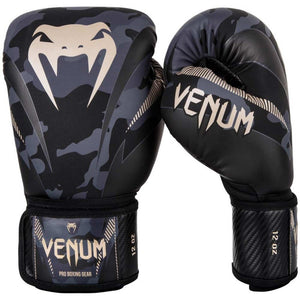 Venum Impact Boxing Gloves Dark Camo Sand